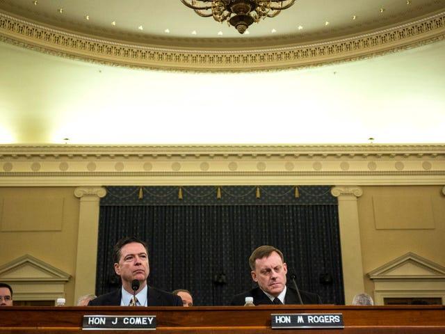 James Comey: Trump adalah Pembohong dan Ya, Kami Mencari Ke Hubungan Rusia (Saya Paraphrasing Bit)
