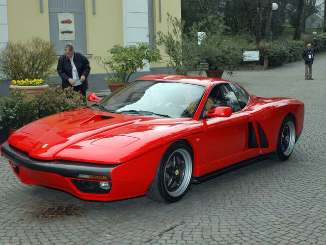So Zagato apparently made a Fierrari out of a real Ferrari in the 90's