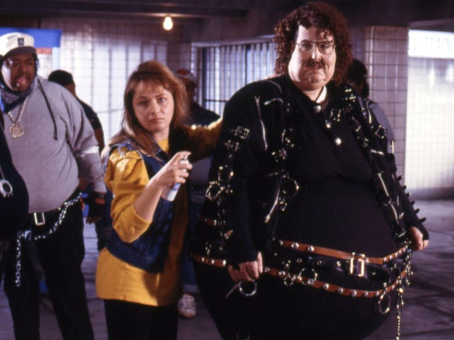"""Here, have some creepy-fun footage of Weird Al getting in character for the """"Fat"""" video"""