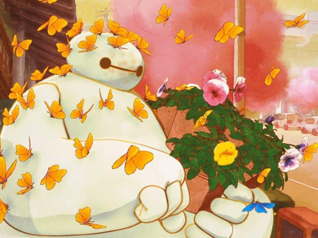 Baymax og Mochi Møt noen nye venner i denne nydelige storhelten Big Hero 6 kort
