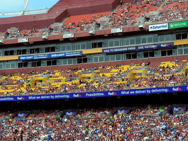 The Skins Didn't Sell Out Their Home Opener Because They Stink