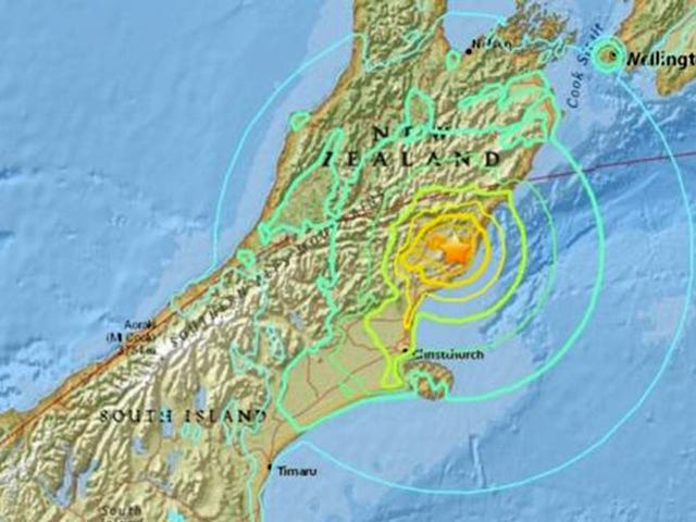 Extremely Powerful Earthquake Rocks New Zealand