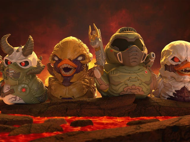 Karakter Video Game Sebagai Bebek Karet Mengerikan