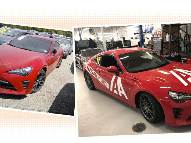 How We Transformed A Flooded Salvage Toyota 86 Into A Race Car For Charity