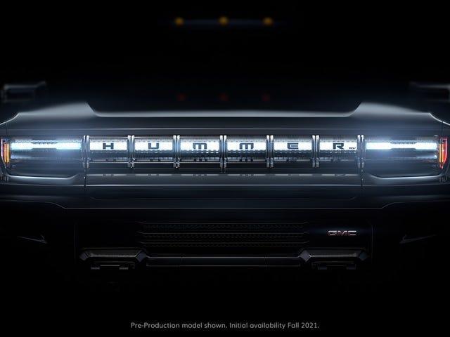 Den gjenfødte GMC Hummer EV Truck vil ha 1 000 HP, 11 500 pund av moment