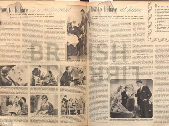 1950s Ladymag Offers Dating Advice on 'How to Behave in a Restaurant'