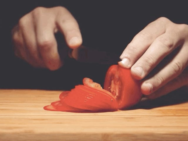 Last Call: Watching a tomato get unsliced is very satisfying