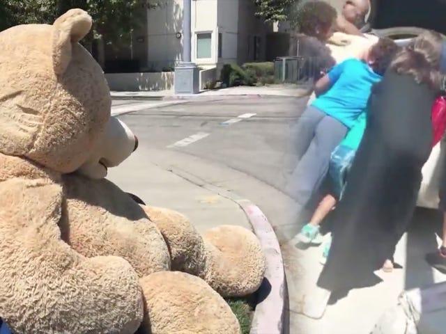 アンジーがこの大きな熊を彼らの家に引きずり込んだとき、何がブラッドと言うつもりですか?