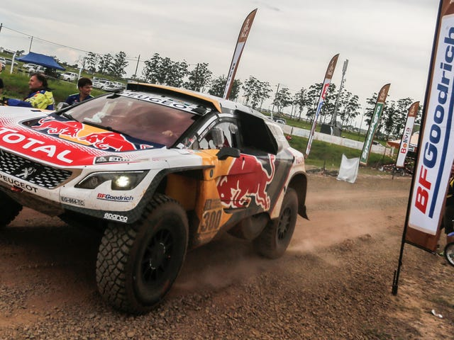 Twelve-Time Dakar Winner Collides With Motorcycle Rider While Leading Race