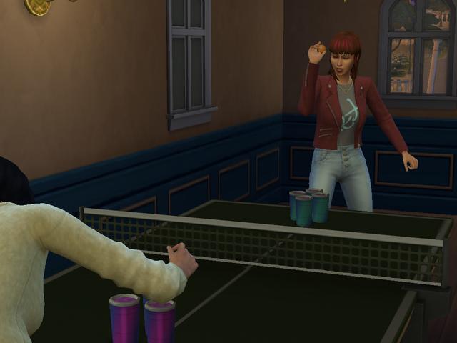 Sims på college dricker för mycket