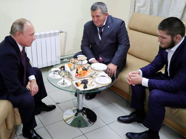 Vladimir Putin To Khabib Nurmagomedov's Father: Please Be Nice To Khabib