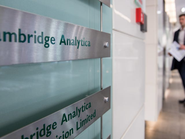 The Tattered Remains of Cambridge Analytica Just Filed for Bankruptcy in the U.S.