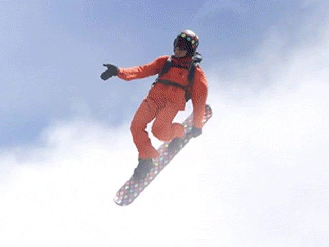 Snowboarden in den Wolken ist so viel cooler als normales Snowboarden