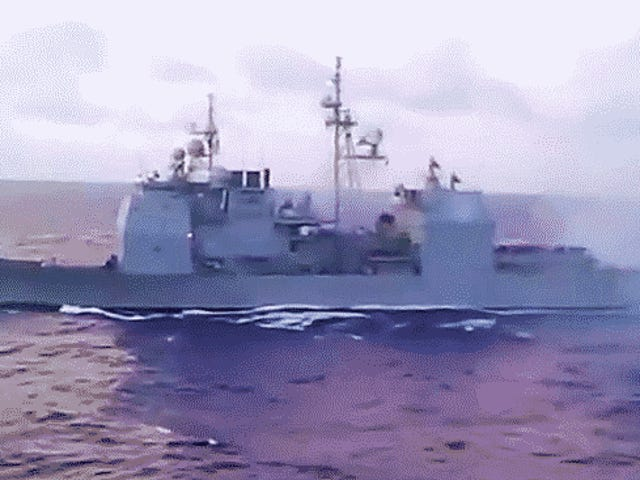 This Is What A Full Broadside From A Ticonderoga-Class Cruiser Looks And Sounds Like