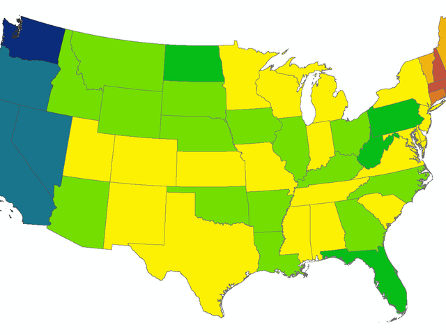 5-Year Fuel Savings Of Going Electric, By State