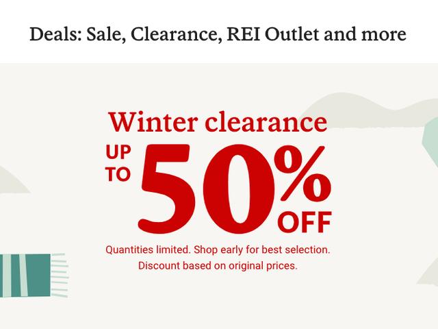 REI a une vente en liquidation et tout est à 50%