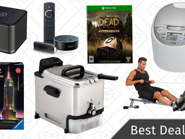 Wednesday's Best Deals: Multi-Room Speakers, Puzzle Gold Box, Fitness Equipment, and More