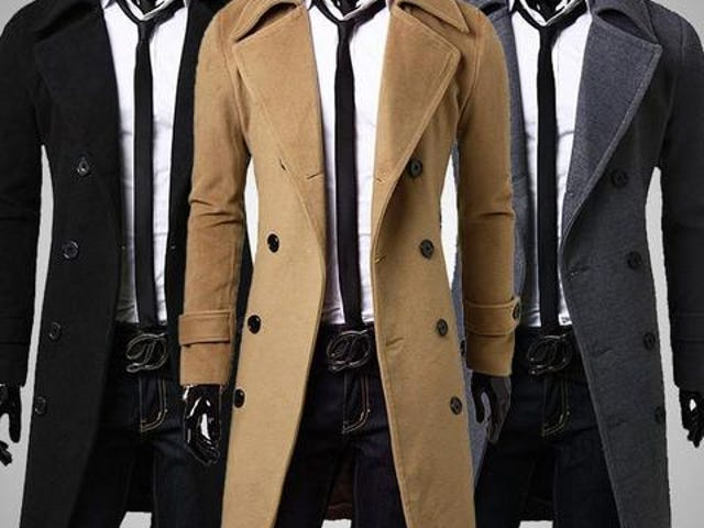European Style Double Breasted Coat Lengthened Simple Luxury Wool Coat