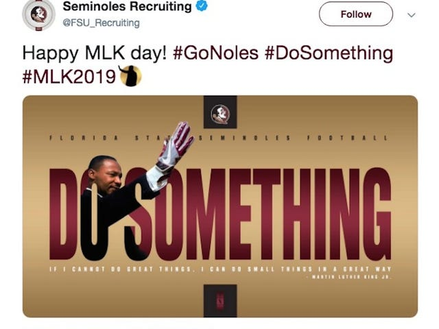 FSU Honors MLK With Unbelievably Tone-Deaf Photoshop [Update]
