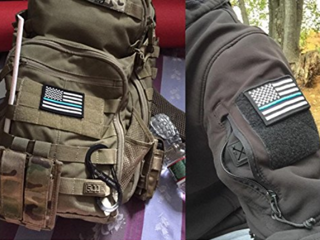 6 pieces USA Flag Tactical Velcro Fully Embroidered Morale Tags Patch $8.99
