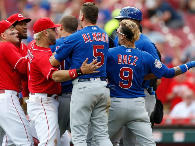 Benches Clear In Cubs-Reds After Bold Pitcher Stare-Down