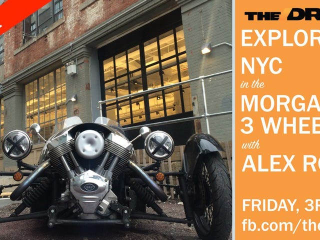 LIVE VIDEO 3PM EST: Morgan 3-Wheeler Tire Test In NYC