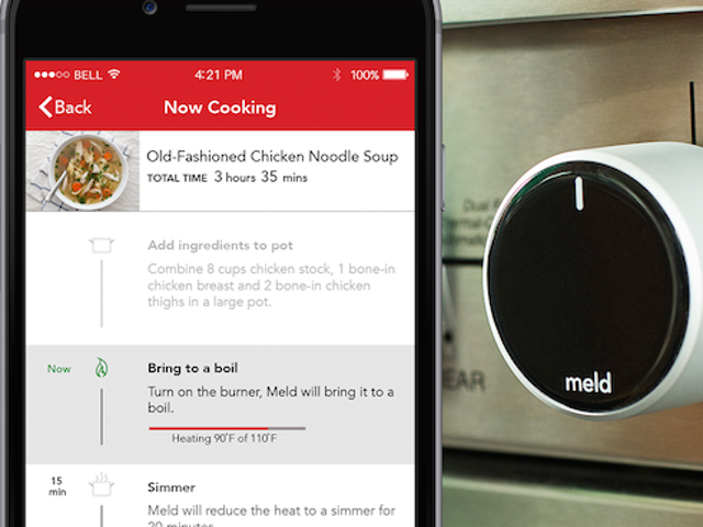 Meld अपने सभी खाना पकाने के लिए स्वचालित तापमान नियंत्रण करता है
