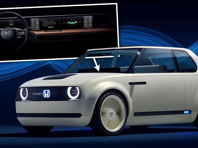 The Interior Of Honda's Retro EV Is All Screens