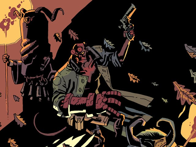 A vampire crashes a pagan ritual in this Hellboy Winter Special exclusive