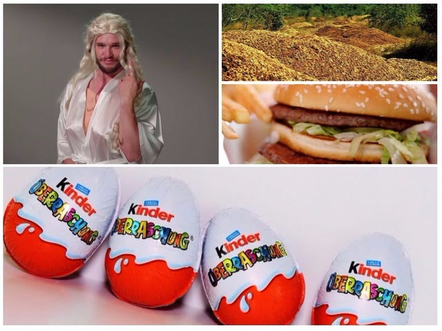 Por eeuu prohíbe los huevos Kinder, monos caníbales, personas que roban arena.  Lækker den sidste semana