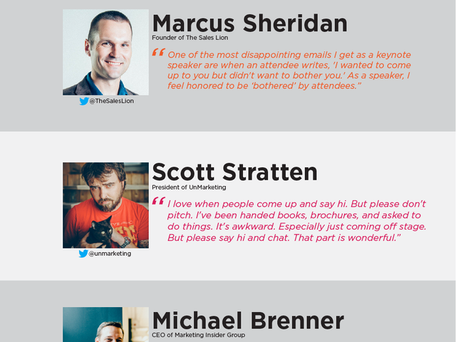 How to Meet Influencers at a Conference [Infographic]