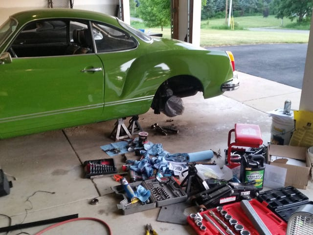 Working on the Ghia