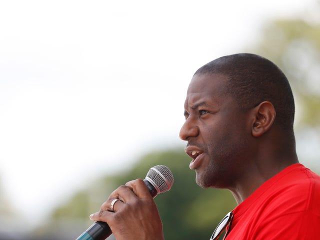 De progressieve burgemeester van Tallahassee, Andrew Gillum, wint het Democratisch jeugdwerk voor de gouverneur van Florida