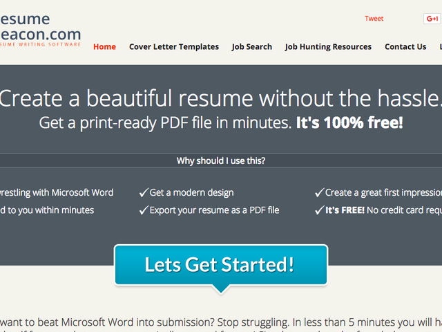 Resume Beacon Is a Simple, Free, Non-Flashy Online Resume Builder