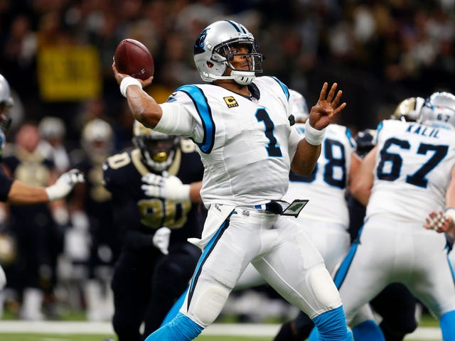 For No Reason, Here's A Ridiculously Tight Cam Newton Throw