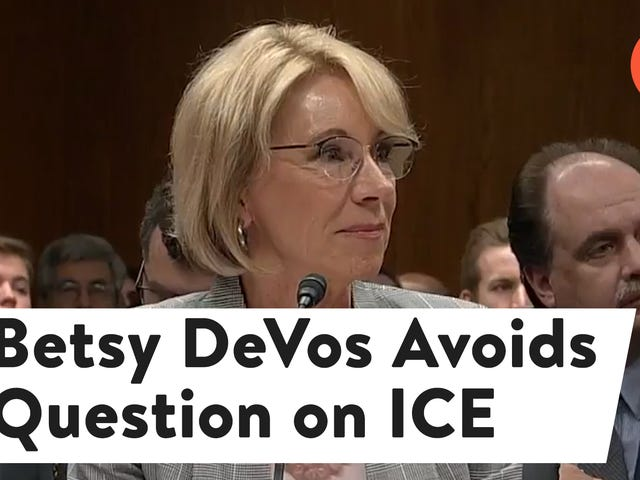 Betsy DeVos Struggles to Answer Simple Question About Whether Schools Can Call ICE on Students