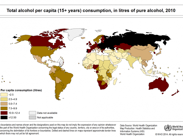 How Drunk is Your Country Right Now?