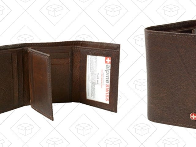 Grab This Leather Trifold Wallet For Just $11 Today