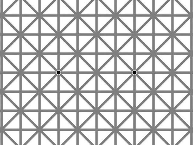 This grid illusion is a sure gateway to madness
