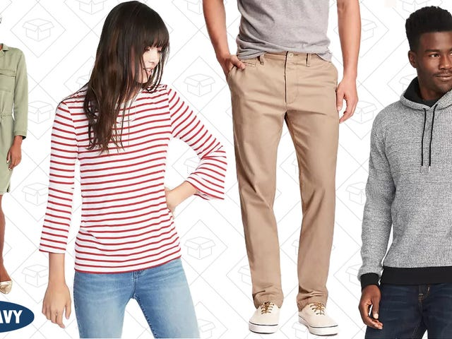 Old Navy's Huge, Up to 75% Off Sale Section is An Extra 30% Off Right Now