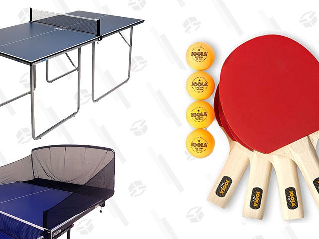 You Might Get as Good as Forrest Gump If You Practice With This Ping Pong Gear, Starting at $10