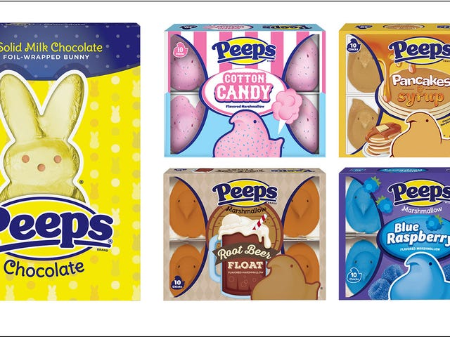 Peeps debuts root beer, pancakes and syrup, blue raspberry-filled marshmallow chicks