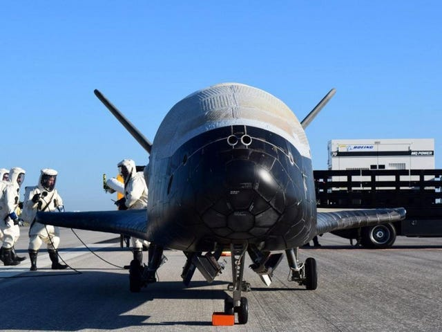 The X-37B is back