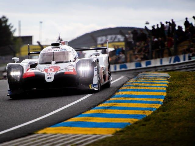 Toyota tar upp 24 timmar om Le Mans Victory med dramatik