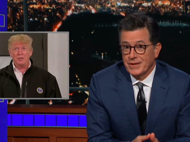 On The Late Show, Stephen Colbert taunts Donald Trump for not paying yet another debt