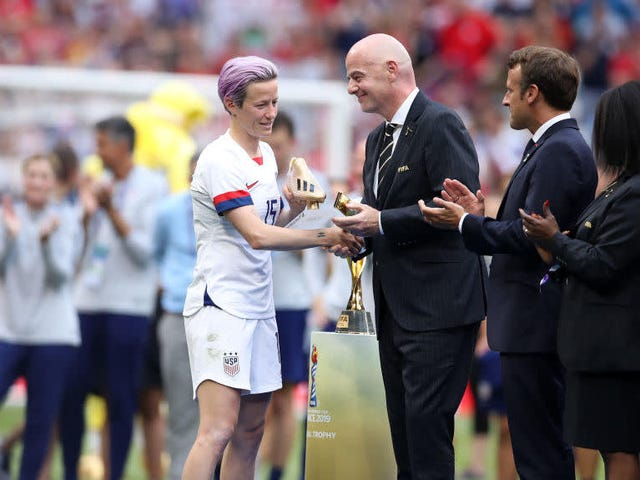 Megan Rapinoe Pada Fans Booing Presiden FIFA: 'A Little Public Shame Never Hurt Anybody'