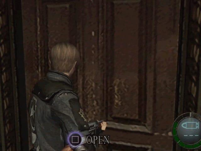 Alguém matou o cara da motosserra em Resident Evil 4 usando apenas uma porta