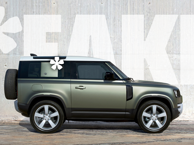 The 2020 Land Rover Defender 90 Offers A Huge Fake Pillar And It's Just Bizarre