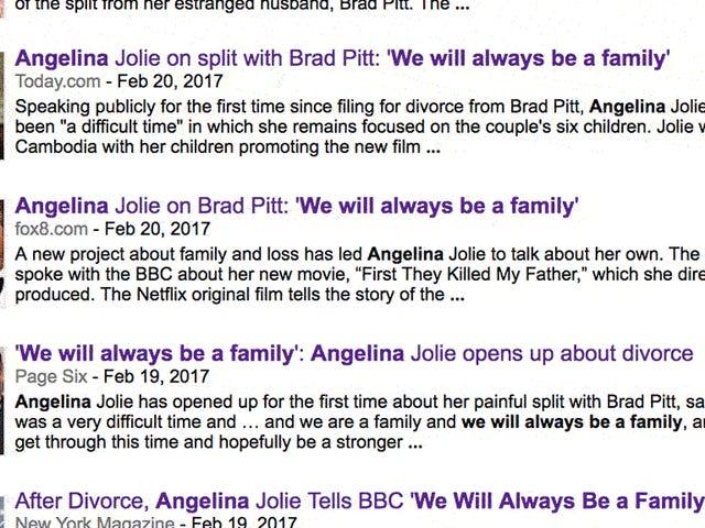 アンジェリーナ・ジョリーは、彼女の記者会見の間にブラッド・ピットについて話すためにただ1つのものを持っています