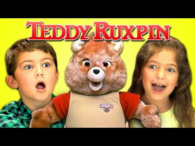 Kids React to The Sheer Terror That is Teddy Ruxpin